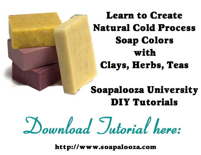 Clays, Teas, Herbs & Spices as Natural Soap Colorants
